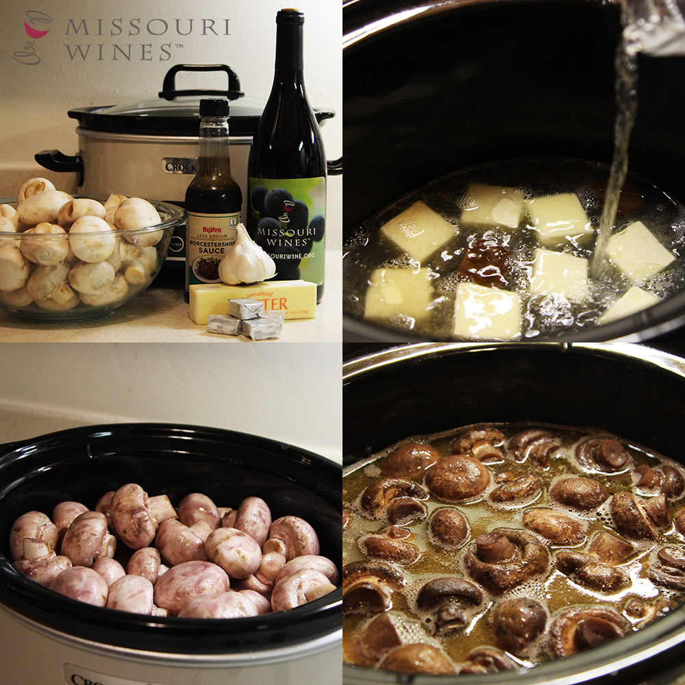 Ingredients and steps for Chambourcin Mushrooms recipe
