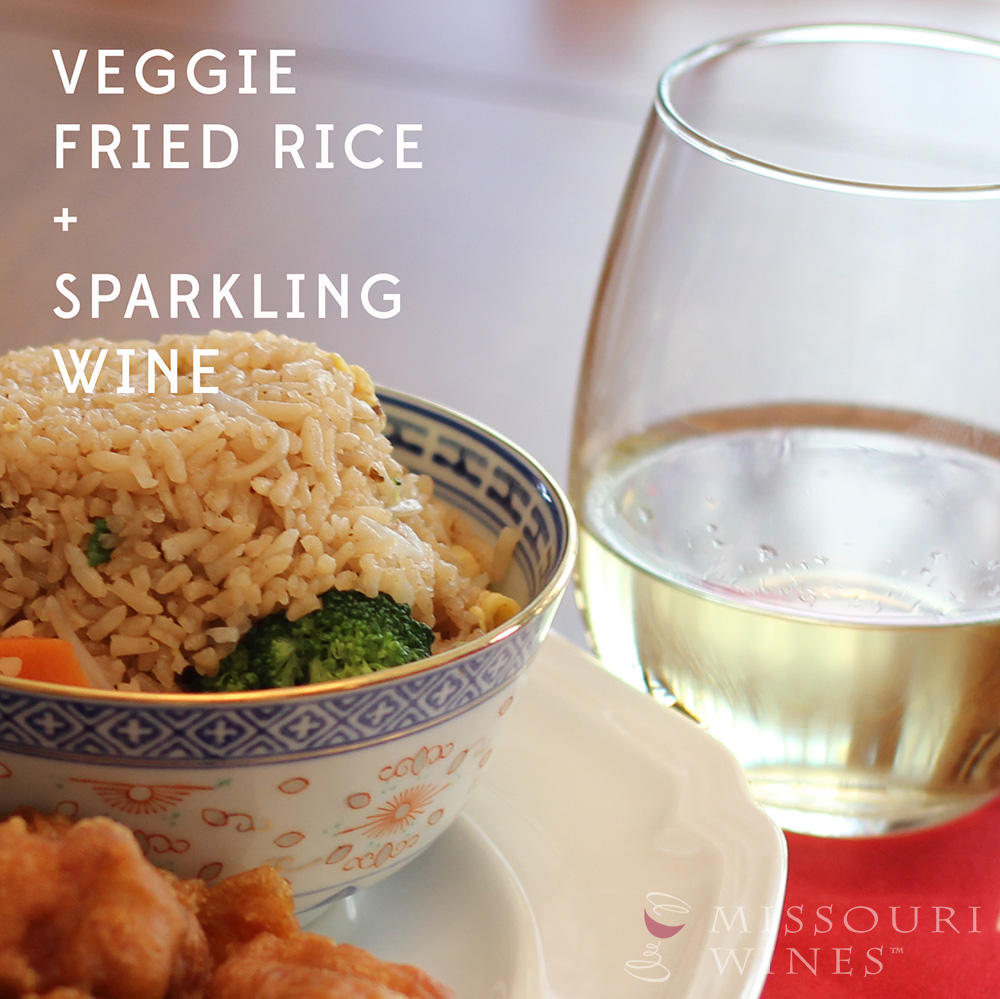 Pairing MO Wine and Chinese Food: Fried Rice + Traminette