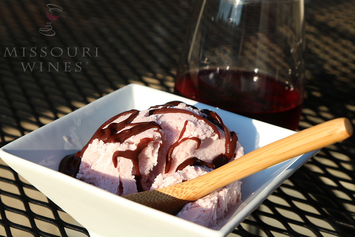 3 Ingredient Wine Ice Cream | Concord Missouri Wine