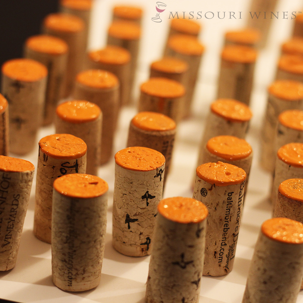 DIY Wine Cork Pumpkins - Painted Corks