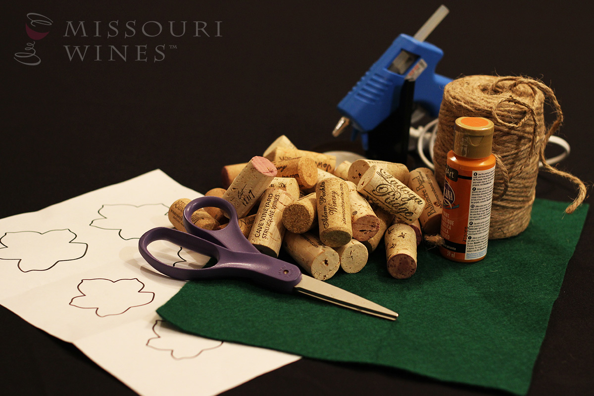 DIY Wine Cork Pumpkins - Supplies