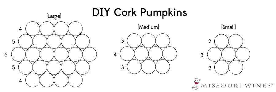 DIY Wine Cork Pumpkins - Diagram