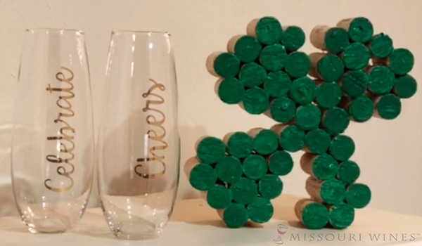 51cd23d1 DIY Cork Shamrock Craft for St. Patrick's Day | MO Wine
