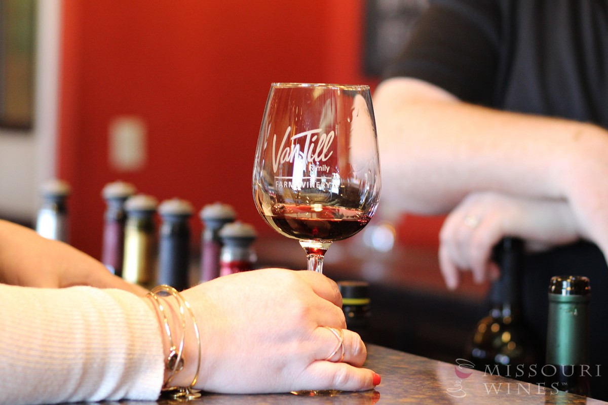 Spotlight on Missouri Wine Country: KC Area | Van Till Family Farm Winery's tasting room is a welcoming place to try local wines.