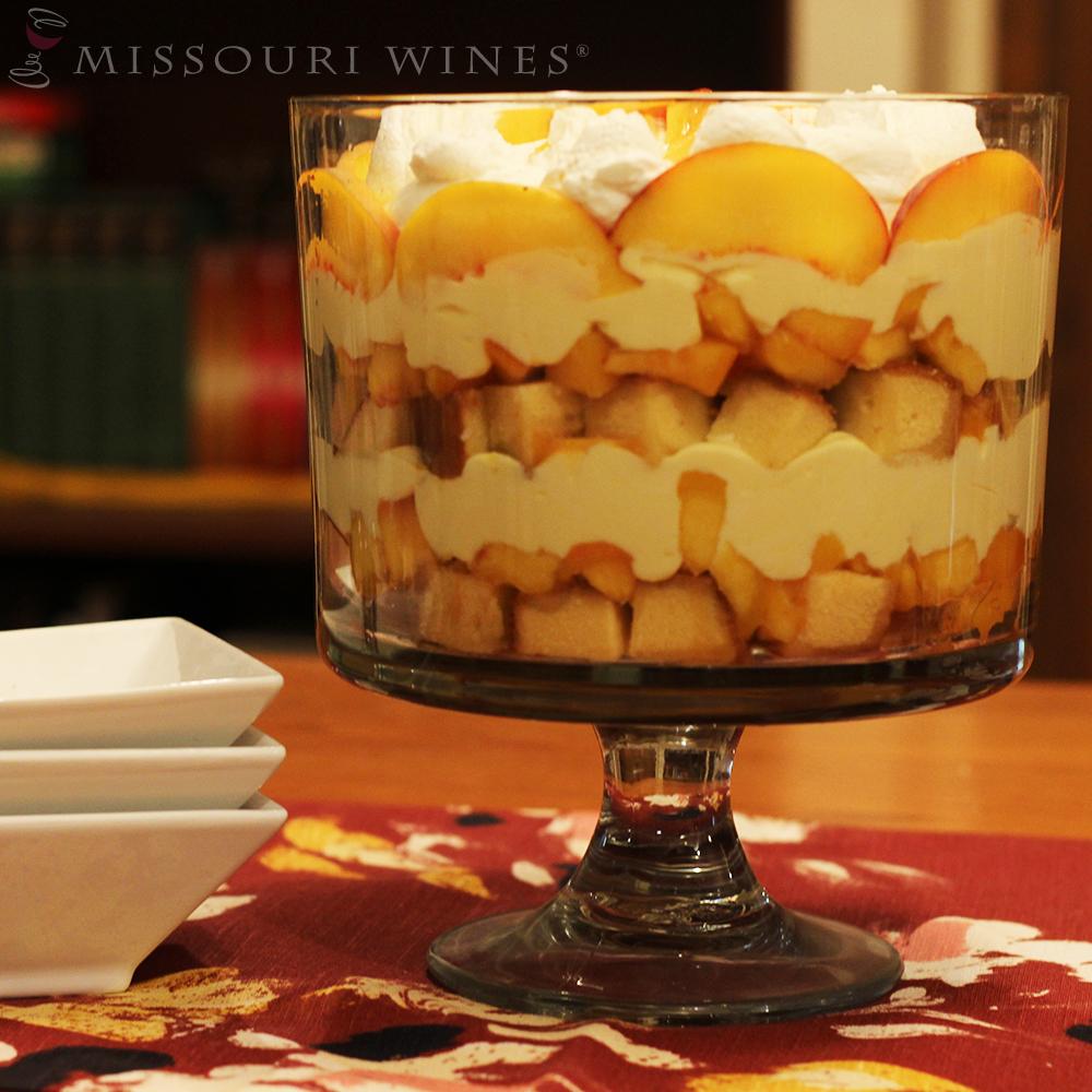 Delicious and Easy Peachy Vignoles Trifle | MO Wine