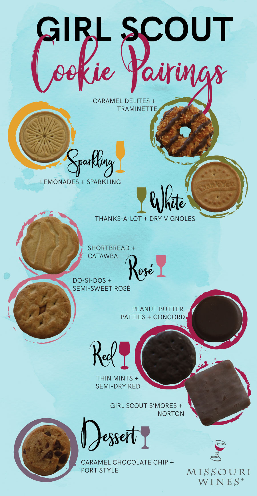 Girl Scout Cookies and Missouri Wine Pairing