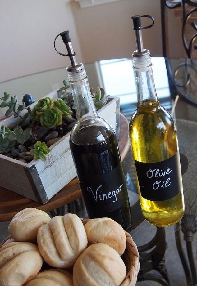 DIY oil and vinegar bottles from hometalkcom