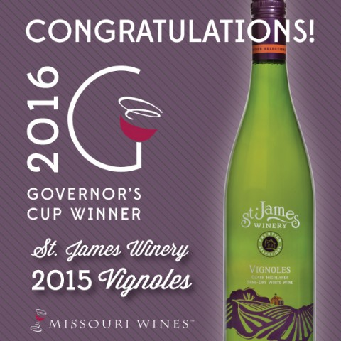 2016 Governors Cup Winner - St James Winery 2015 Vignoles