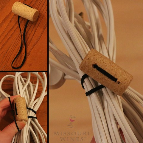 Wine cork life hack to organize cords | MO wine