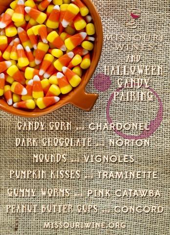 Halloween Candy & Wine Pairing Card