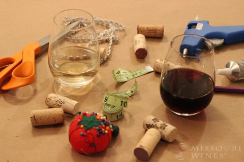 Supplies for the perfect craft night with MO wines.