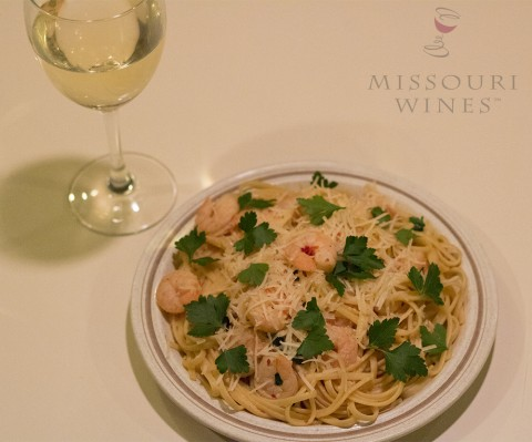 Missouri White Wine Shrimp Linguine