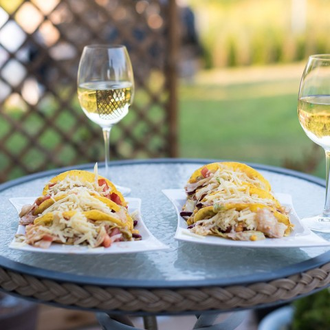 Tacos and wine