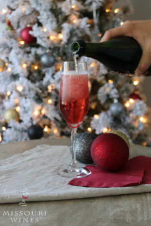 Missouri Wine Holiday Cocktail