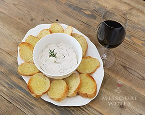 This Missouri red wine cheese dip is a delicious appetizer.