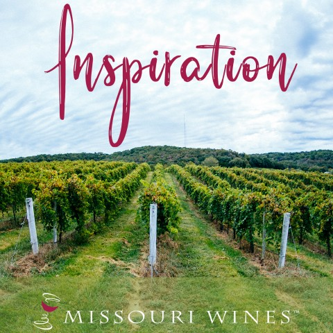 "Picture of a vineyard with the word ""Inspiration"" at the top"