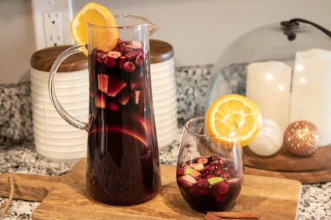 Merry Mead Sangria Pitcher and Glass
