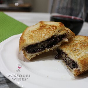 Red Wine Grilled Cheese