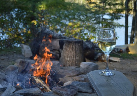 White wine by fire