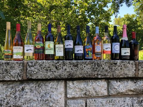 Best of Class winning bottles lined up