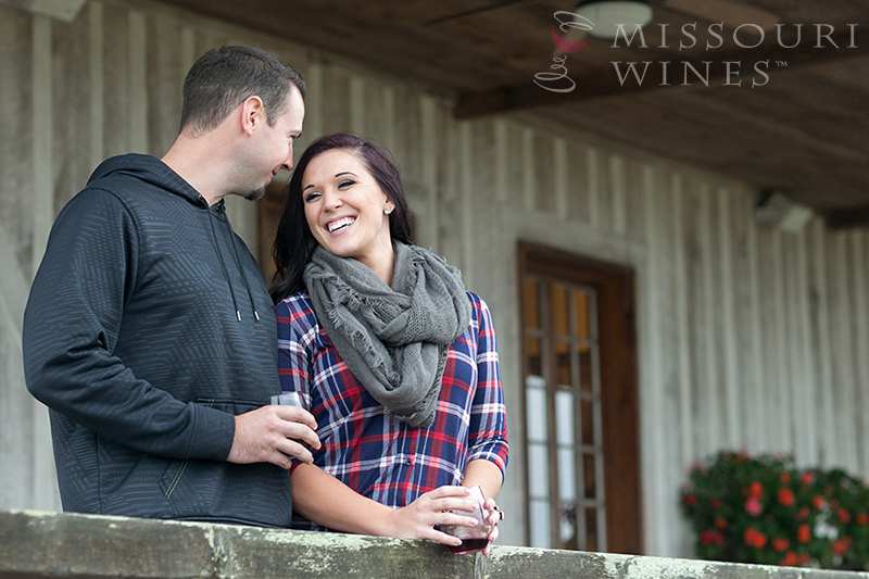 Romantic Couple at Winery
